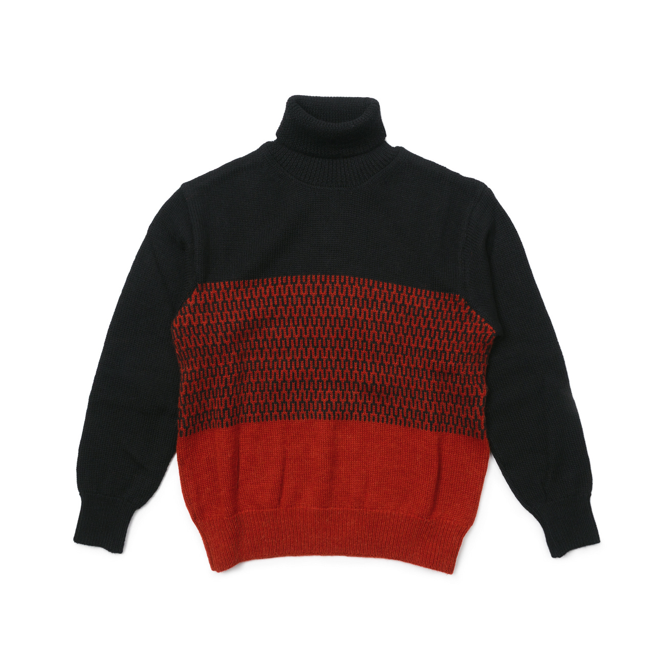 Jacquard Turtleneck Knit