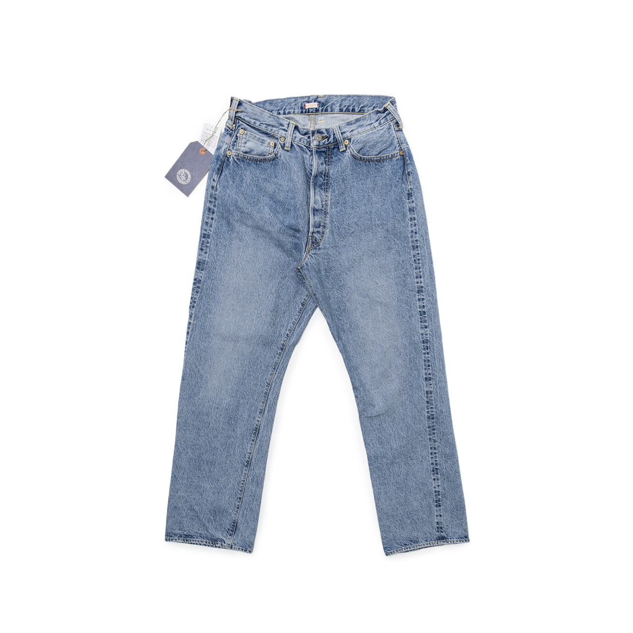 Baggy Cut Straight Denim Pants (Washed)