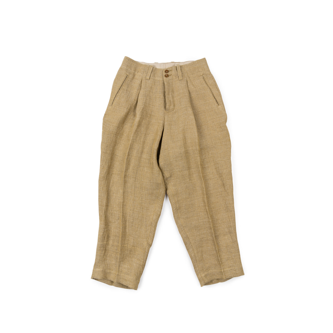 Linen Herringbone Wide Pants