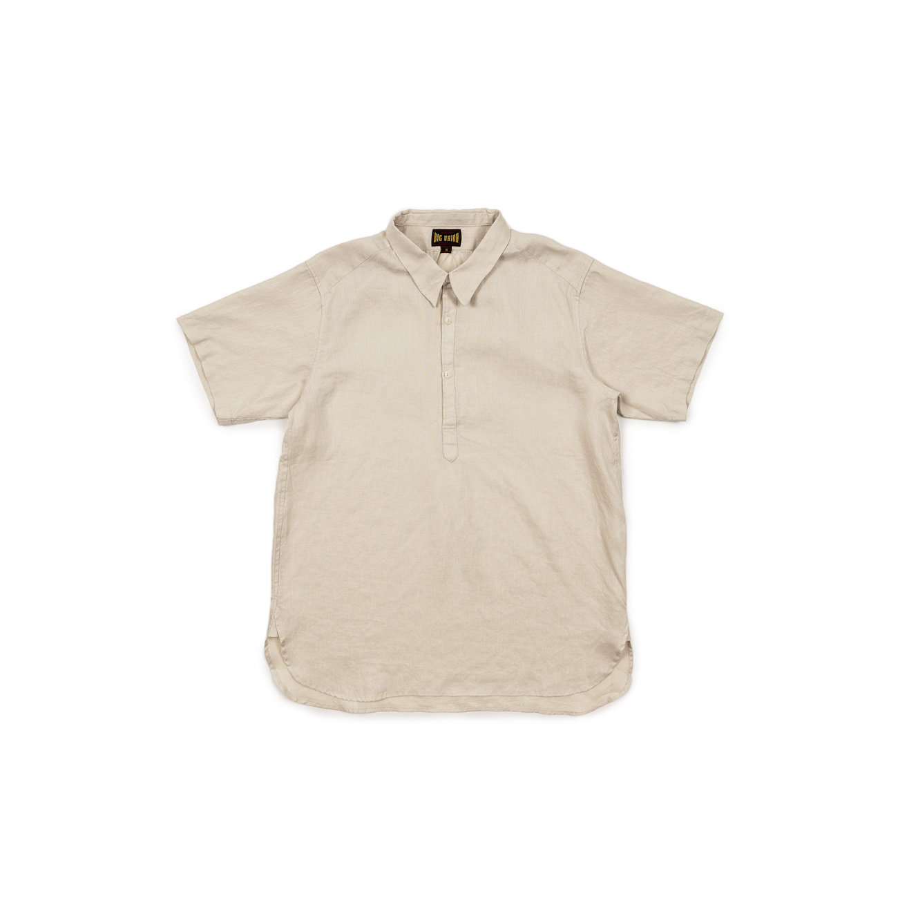 Short Sleeve Pullover Linen Shirt