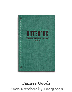 Linen Notebook - Evergreen