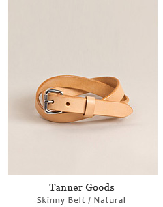 Skinny Belt - Natural / Stainless Steel