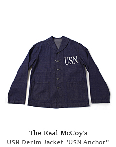 "USN Denim Jacket ""USN Anchor"""