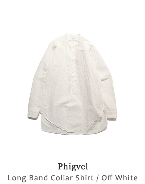 Long Band Collar Shirt