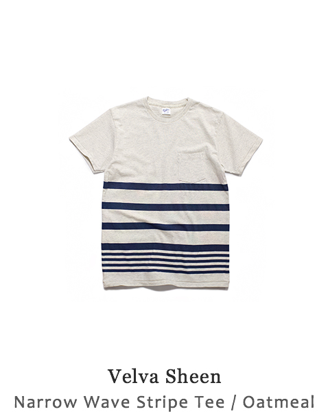 Narrow Wave Stripe Tee
