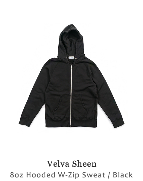 8oz Hooded W-Zip Sweat