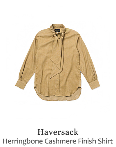 Herringbone Cashmere Finish Shirt